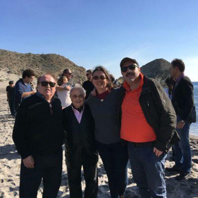 Fam Trip Fical 2015. Con Fernando Esteso, José Carabías y equipo de Mar de plástico