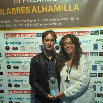 Premio A ALMERIA WESTERN FILM FESTIVAL de la Voz de Almería, con Juan Fran Viruega