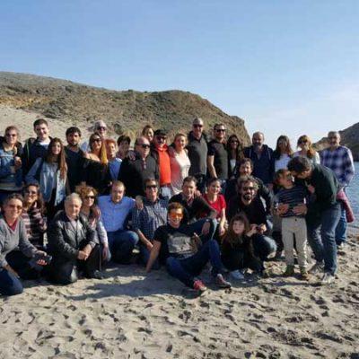 Fam Trip FICAL 2015, con todo el equipo de Mar de plástico e invitados