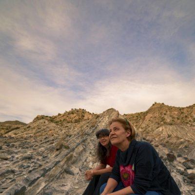 Con Mercedes Díaz en el Desierto - Foto de Sergio Lucas