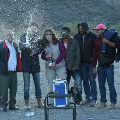 Celebrando fin de rodaje - Bollywood, con Gopi y todo el equipo