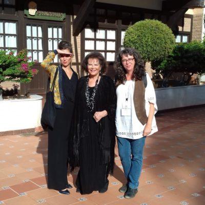 Con Claudia Cardinale y Claudia Squitieri