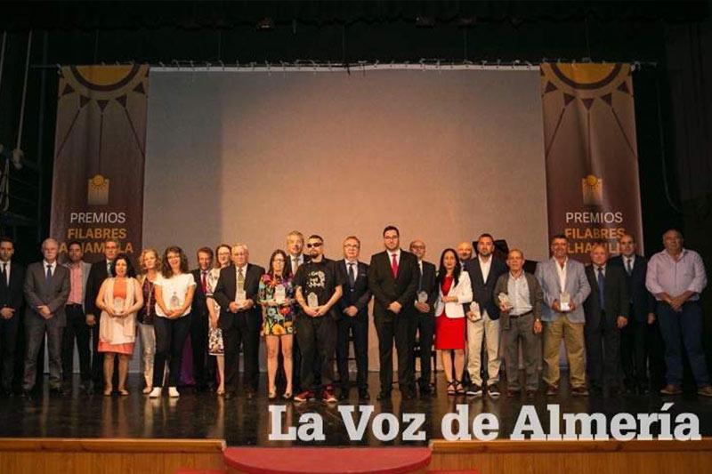 Foto de familia Entrega de premios filabres alhamilla