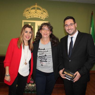 Con José Días (Alcalde de Tabernas) y Susana Díaz (ex Presidenta de la Junta de Andalucía)